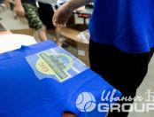 Синие футболки с логотипом «Автоклуб Магистраль»
