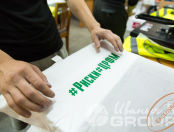 Белые футболки с надписью «РИСКИ ЦРФМ»