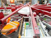 Оранжевые сигнальные жилеты с логотипом «ВЫСТАВОЧНЫЙ СЕРВИС»