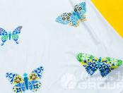 Белое платье с изображением «Спроси у дивной Насти, где взять крылья»