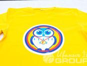 Детских футболки с изображением совушки
