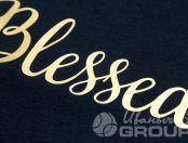 Черные футболки с логотипом «BLESSED»