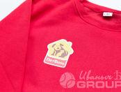 Красные свитшоты с логотипом «ПЕТВИЛЬ»