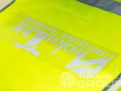 Желтые сигнальные жилеты с логотипом «ИНЖИ ТЭК»