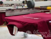 Бордовые футболки-поло с надписью «СтройМода»
