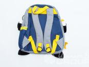 Синие детские рюкзаки в виде летучей мыши с логотипом «Лучше всех»