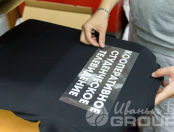 Черные футболки с надписью «КООПЕРАТИВНОЕ СТУДЕНЧЕСКОЕ ТЕЛЕВИДЕНИЕ»