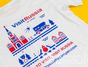 Футболки с принтом «VisitRussia»