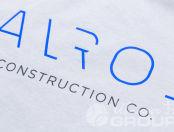 Серые футболки с логотип «ALROS»