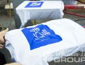 Белые футболки с принтом «ГАНДИ»
