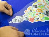 Синие толстовки с картинкой елки «Максатиха»