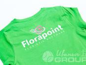 Зеленые женские футболки с надписью «Floralpoint»
