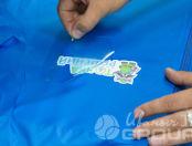 Голубые ветровки с логотипом «Точка инженерных решений»