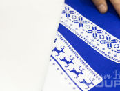 Синие толстовки с картинкой хлопушки «Максатиха»