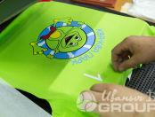 Зеленые футболки с логотипом «КВА КВА ПАРК»
