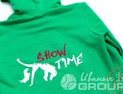 Зеленые толстовки с лого «Show Time»