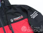 Двухцветные куртки с логотипом «МОБИЛ К»