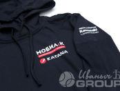 Черные толстовки с логотипом «МОБИЛ К»