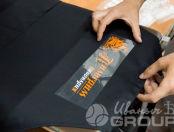 Черные фартуки с логотипом «Пивоварня Пилигрим»