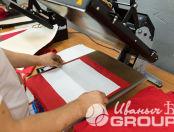 Красные сумки рисунком и надписью «KALININGRAD»