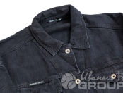 Черные джинсовые куртки с логотипом «HAIPIZHORKA»