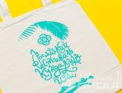 Кремовые сумки с изображением «Российский Фестиваль Йоги»