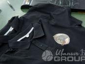Черные футболки-поло с логотипом и надписью «Администратор»