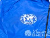 Синие ветровки с логотипом «ВНЕШНИЕ ОСТРОВА ФИНСКОГО ЗАЛИВА»