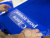 Синих футболки с надписью «ЛЕВ ЛОЗАН»