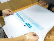 Белые толстовки с логотипом «Мир рекламы»