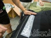 Черные куртки с текстом «Медицина катастроф»