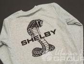 Серая толстовка с логотипом «SHELBY»