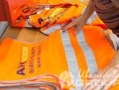 Оранжевые сигнальные жилеты с логотипом «АРХ.ИДЕЯ»