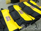 Черные с желтыми вставками сумки с логотипом «МОЯ ОБОРОНА»