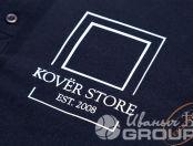 Черные футболки-поло с логотипом «Koverstore»