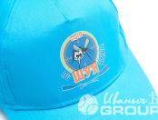 Голубые бейсболки с логотипом «поШУЯчим 2019»