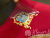 Красные снуды с гербом «В движении жизнь»