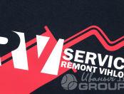 Черные толстовки с логотипом «REMONT VIHLOPA»