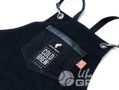 Черные джинсовые фартуки с логотипом «COLD BREW»