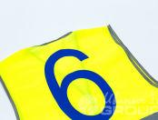 Желтые сигнальные жилеты с номером