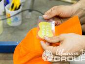 Оранжевые бейсболки с логотипом «ФРУТО КРУТО»