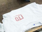 Белые футболки с текстом «ГТО»