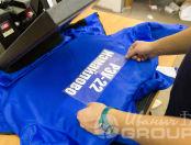 Синие куртки с надписью «РЭУ 22 ИЗМАЙЛОВО»