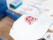 Белые бейсболки с логотипом «Российское Общество Урологов»
