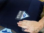 Темно-синие толстовки с логотипом «АНТЕЙ»