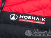 Двухцветные жилеты с логотипом «МОБИЛ К»