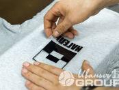 Серые футболки с логотипом «НАГЕЛЬ»