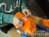 Оранжевые бейсболки с логотипом «ДОБРОДОМИК»