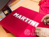 Красных футболки-поло с логотипом «MARTINI»