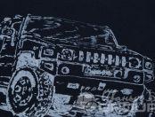 Черные футболки с логотипом «HUMMER»